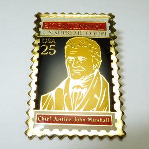 Vintage 1989 Commemorative Stamp John Marshall Pin